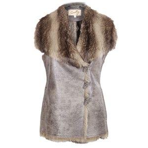 Scully Women's Faux Fur/Suede Vest